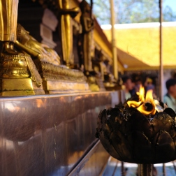 Flames in the temple