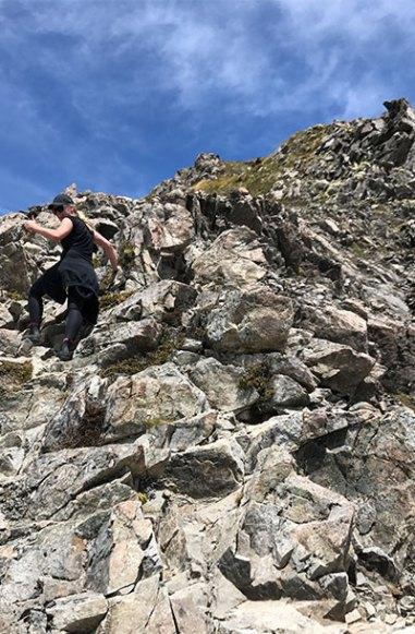 The most terrifying vertical climb.