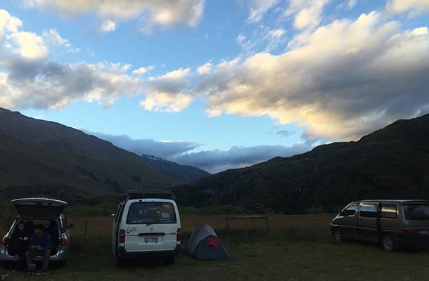 sunset-diamond-lake-campsite