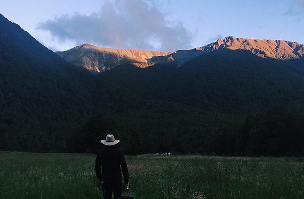strolling-sunset-deer-flat