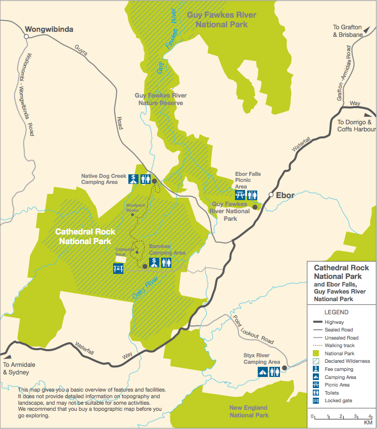 Cathedral Rock NP Map