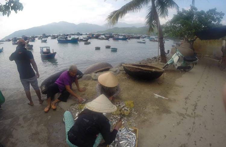 fishing-village-scaling-fish