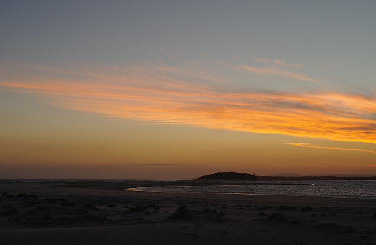 harrington-beach-camping-sunset