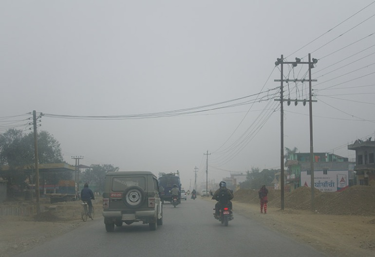nepal-pollution-on-the-road-to-lumbini